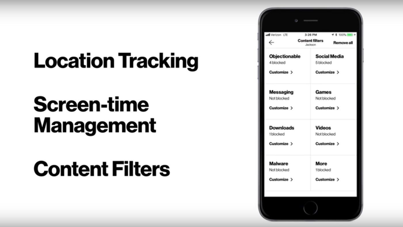 Verizon's new parental control app lets parents track their