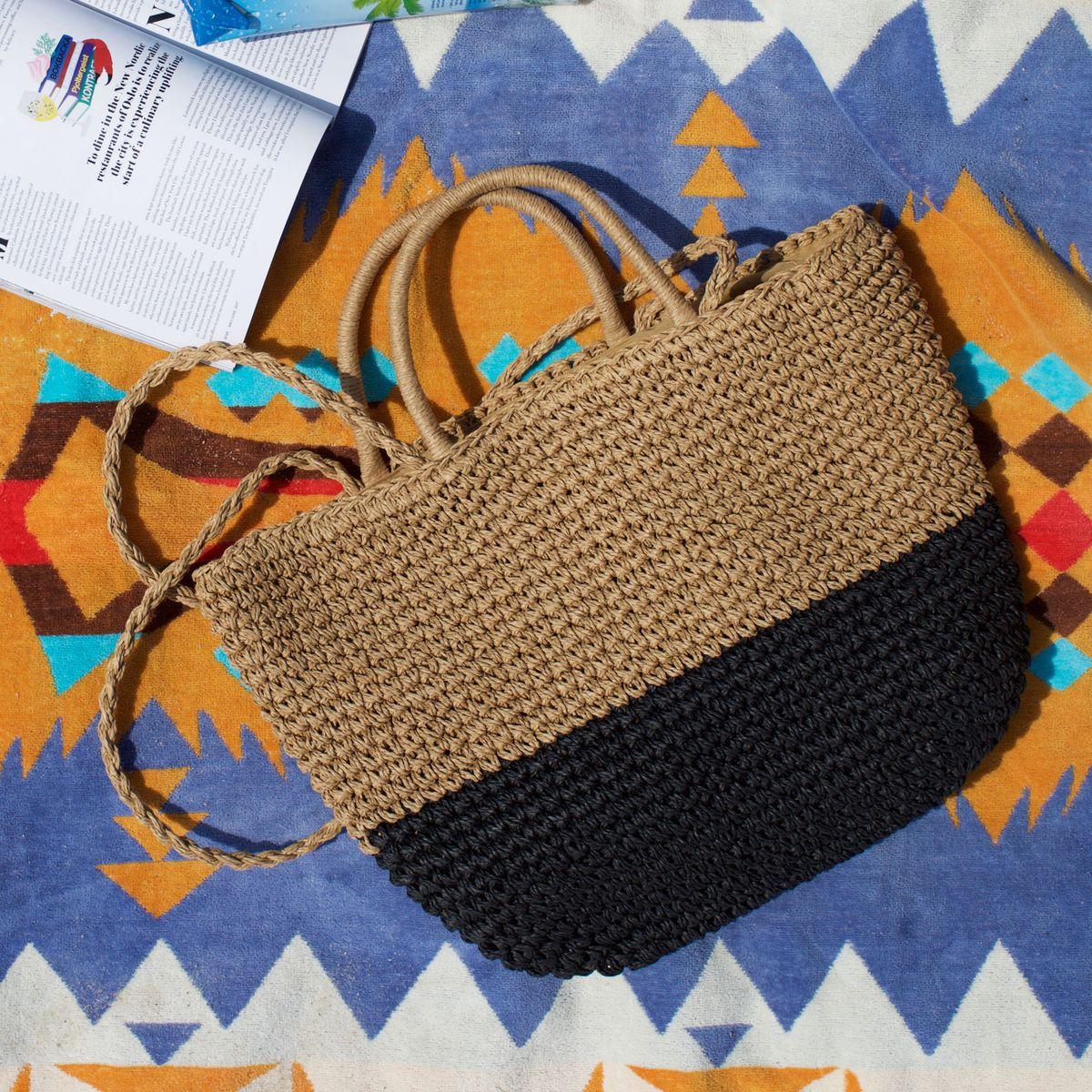 A raffia purse