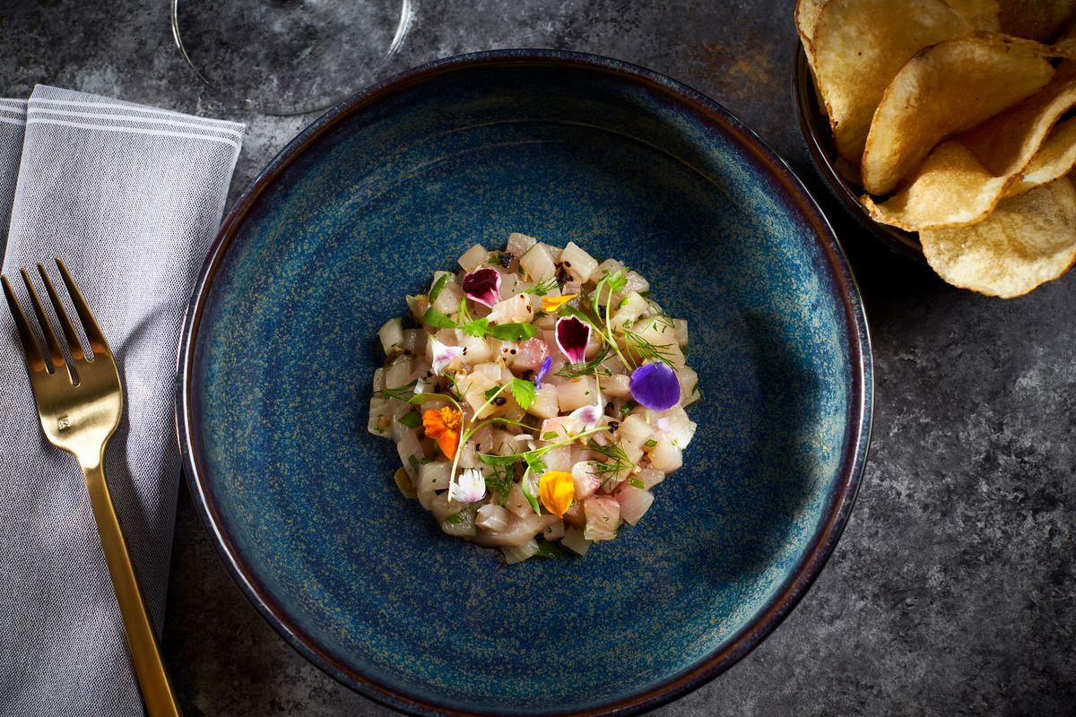 A bowl of raw fish at Wren
