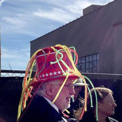 Allen Pahl of Grantsville waits outside the Infinity Event Center for Donald Trump to speak in Salt Lake City on Friday, March 18, 2016.