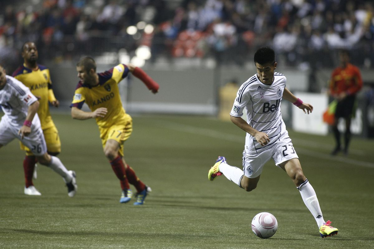 Vancouver Whitecaps' forward Long Tan is looking to regain some lost ground in Vancouver's depth chart this season. (Photo by Kim Stallknecht/Getty Images)