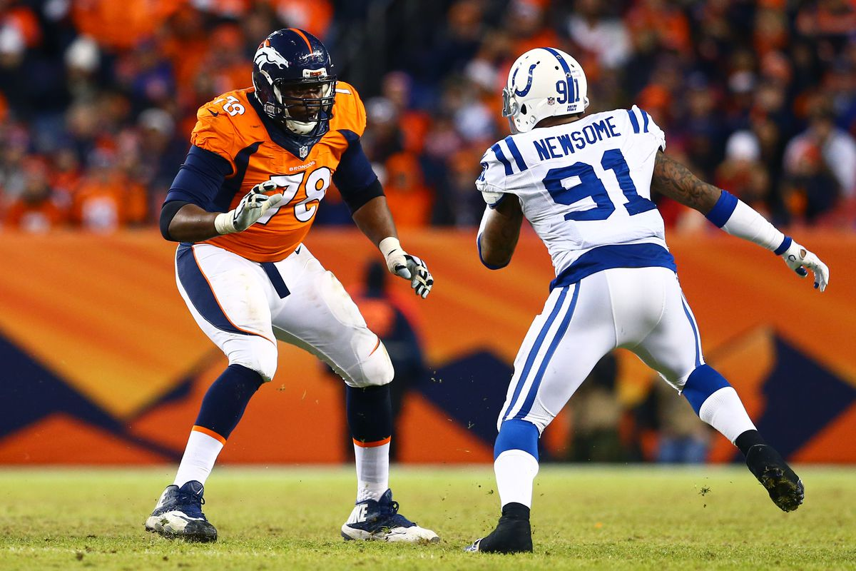 Ryan Clady has both long arms and quick feet - having both has allowed him to flourish