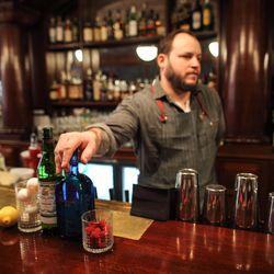 Erich Weiss, grandson of former Bookbinder's owner John M. Taxin, heads up the bar program.