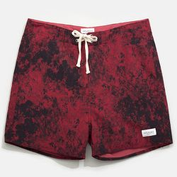 """<strong>Saturdays Surf</strong> Mineral Printed Trunk in Red, <a href=""""http://www.saturdaysnyc.com/item/mineral-print-trunk"""">$75</a>"""