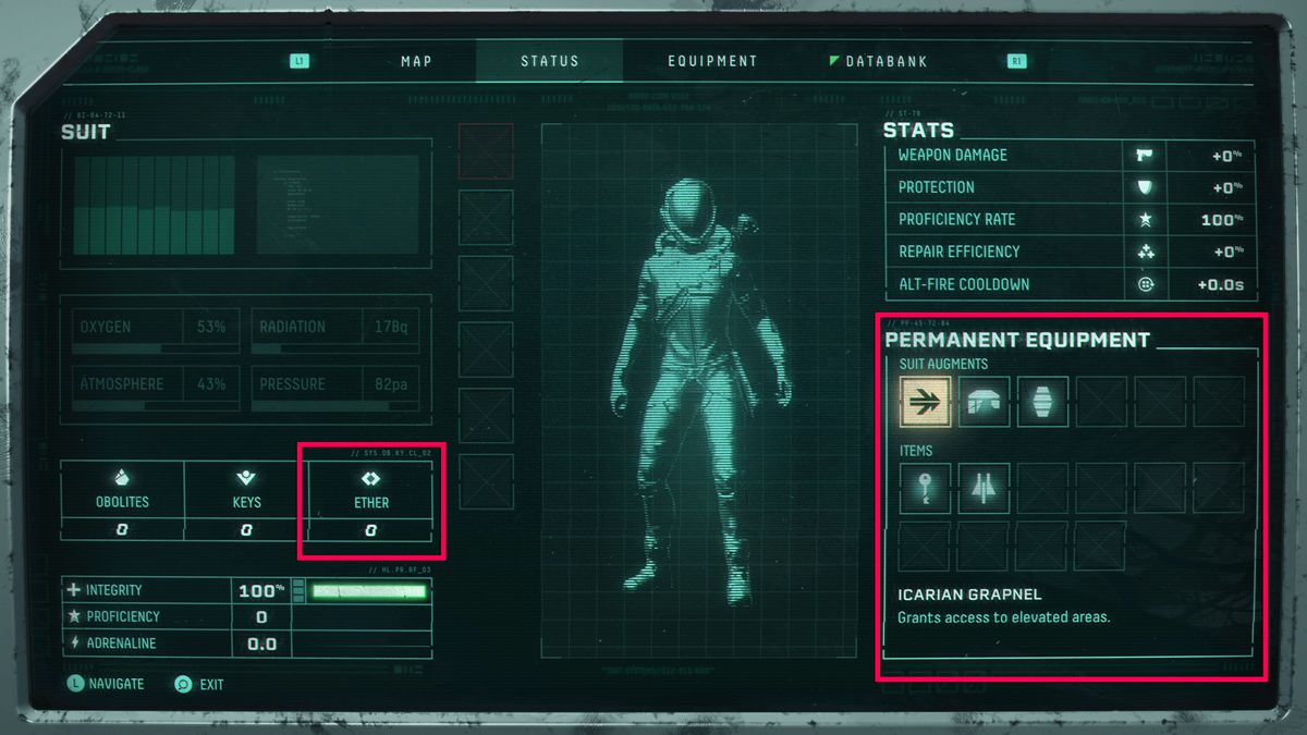 Permanent items list in Returnal