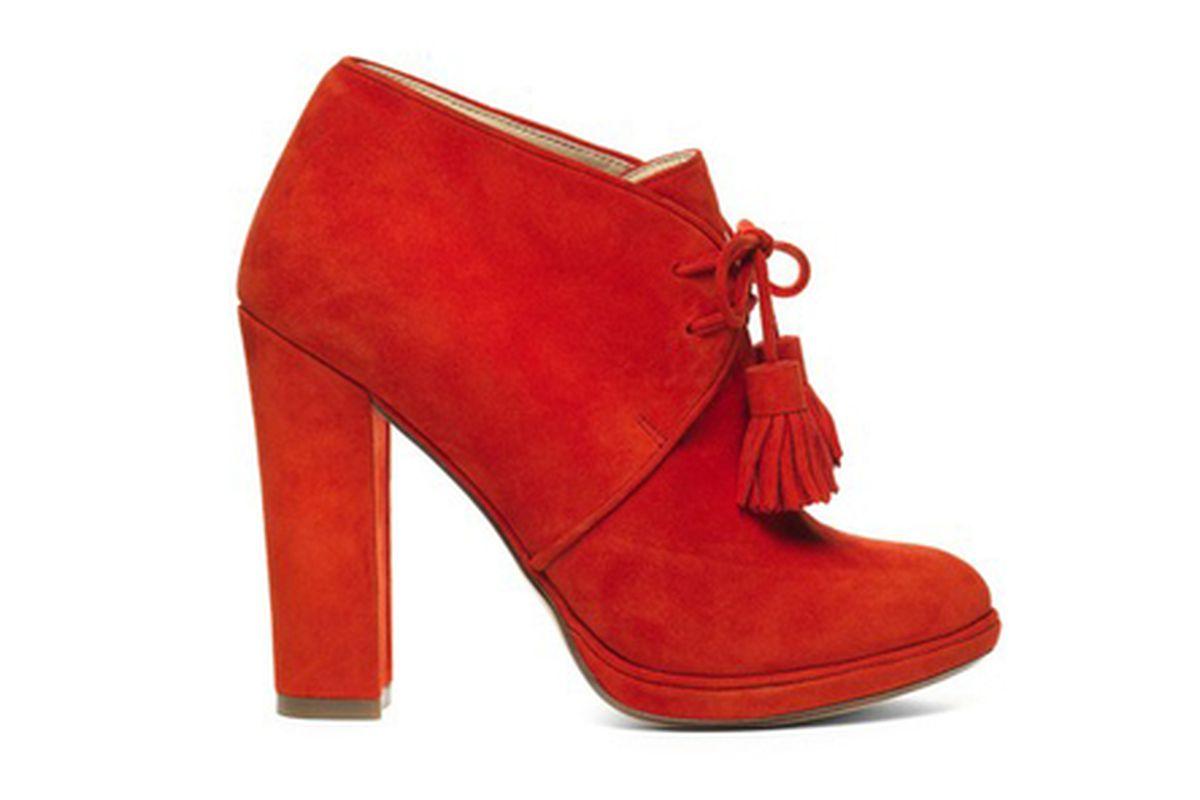 Flame-red desert boot, via Racked NY