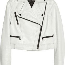 Cracked-leather biker jacket, $593