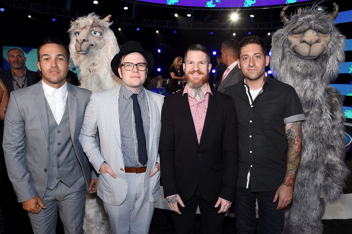 Fall Out Boy on the VMAs red carpet