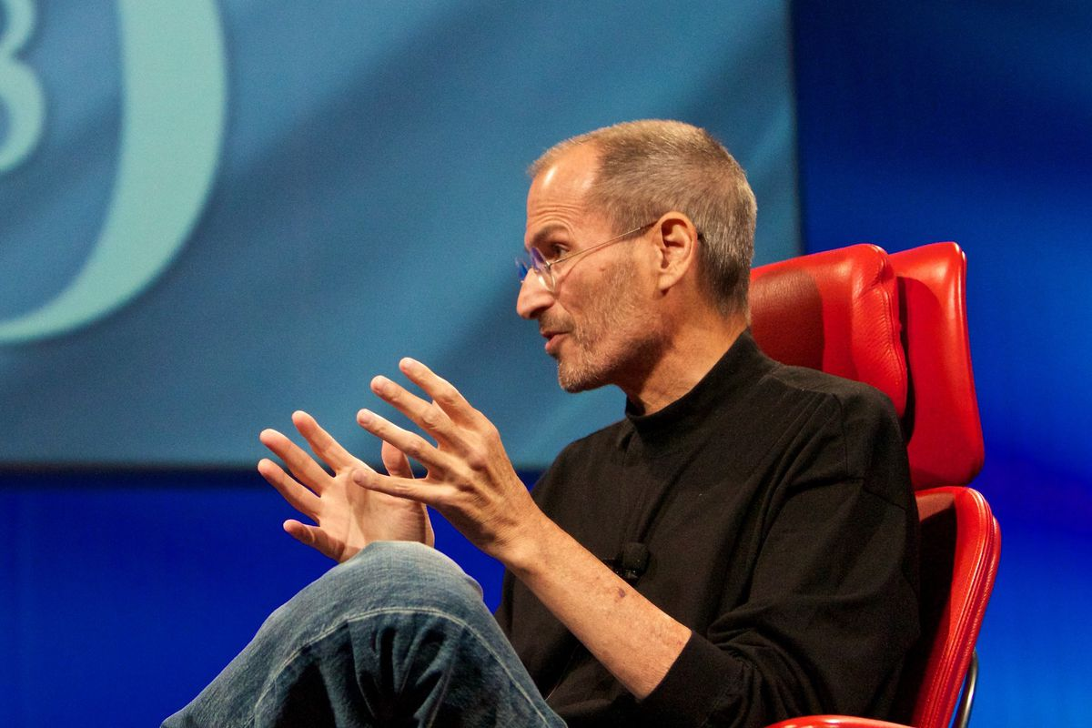 Steve Jobs onstage at the D8 conference