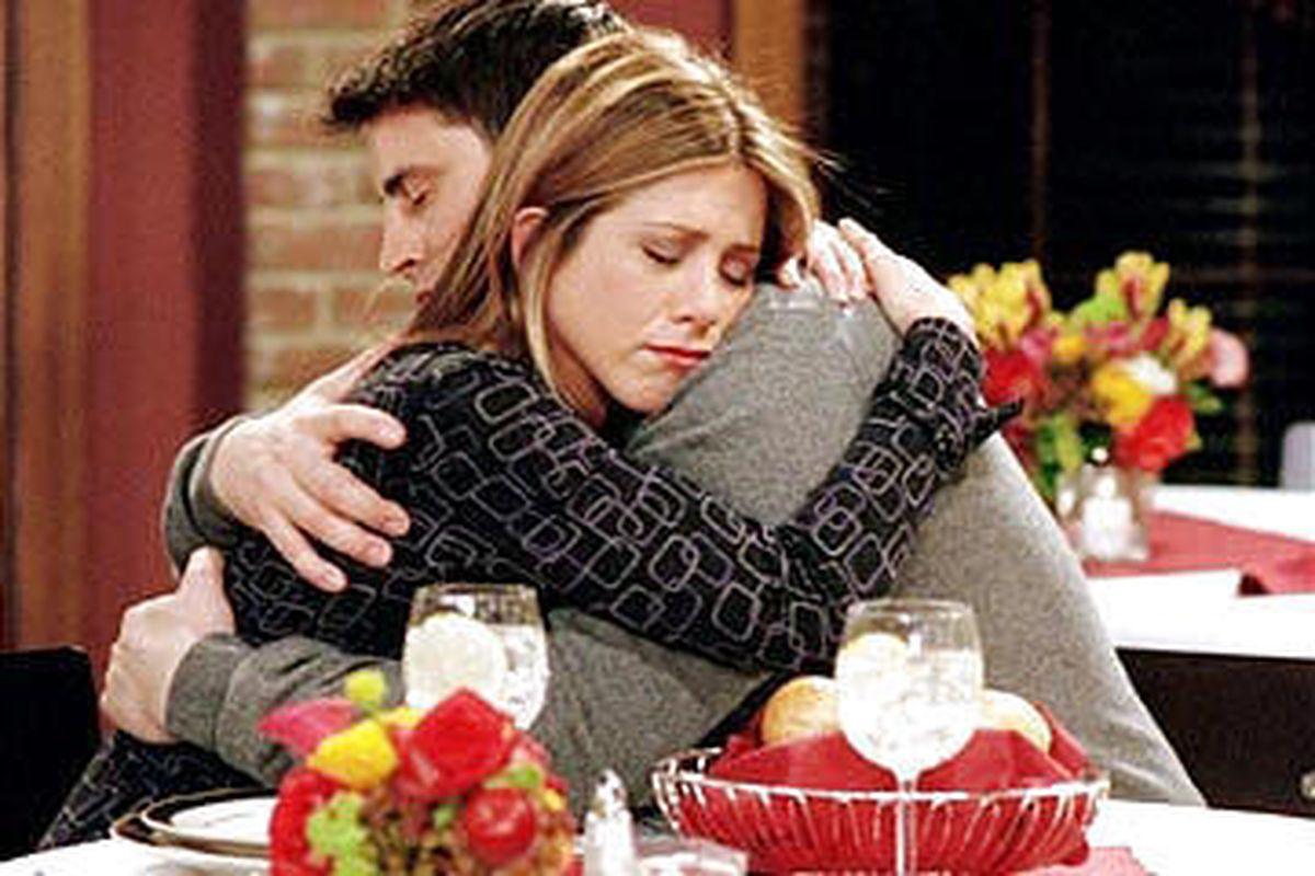 "Jennifer Aniston and Matt LeBlanc on ""Friends"""