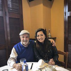 Ji Suk Yi with Greek Islands owner Gus Koutsogeorgas.   Brian Rich/ Sun-Times