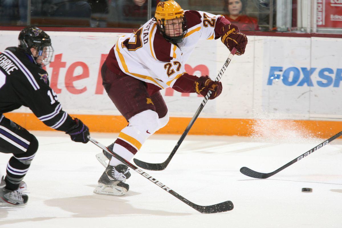 University of Minnesota junior forward Nick Bjugstad