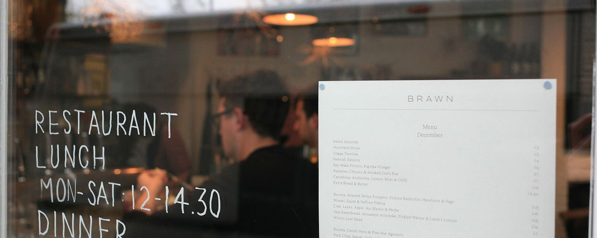 Brawn, on Columbia Road, Hackney, one of London's best restaurants