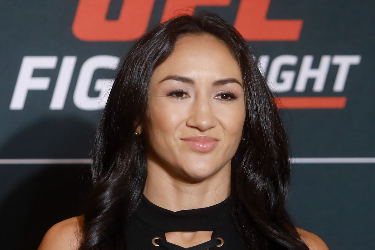 Carla Esparza of USA poses during the UFC Fight Night Rodriguez v Stephens: Ultimate Media Day on September 19, 2019 in Mexico City, Mexico.