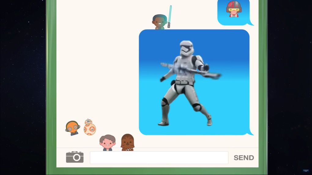 Star Wars emoji movie screencap