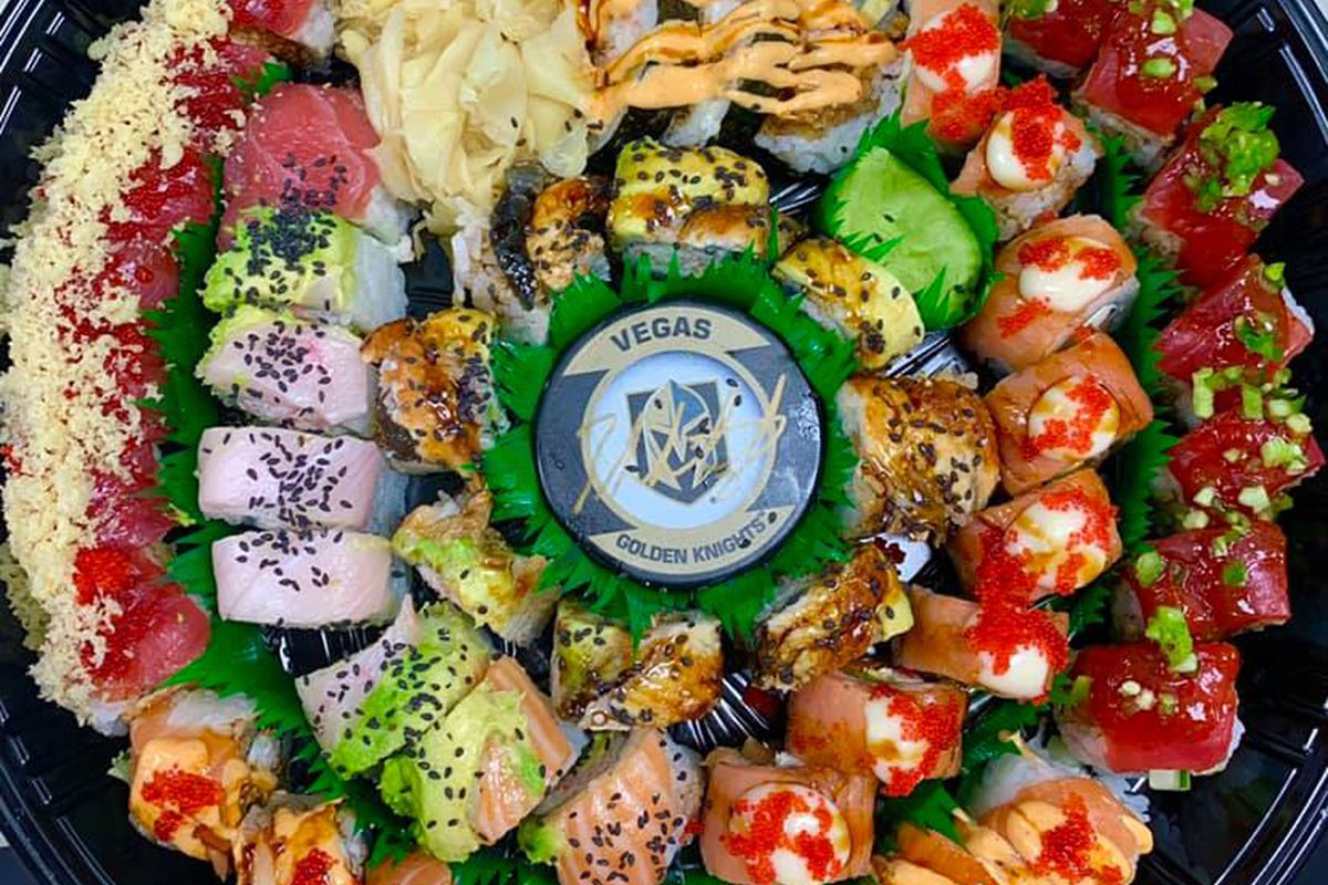 The Go Knights sushi platter, on the menu at On Demand Sushi, headed to Southern Highlands.