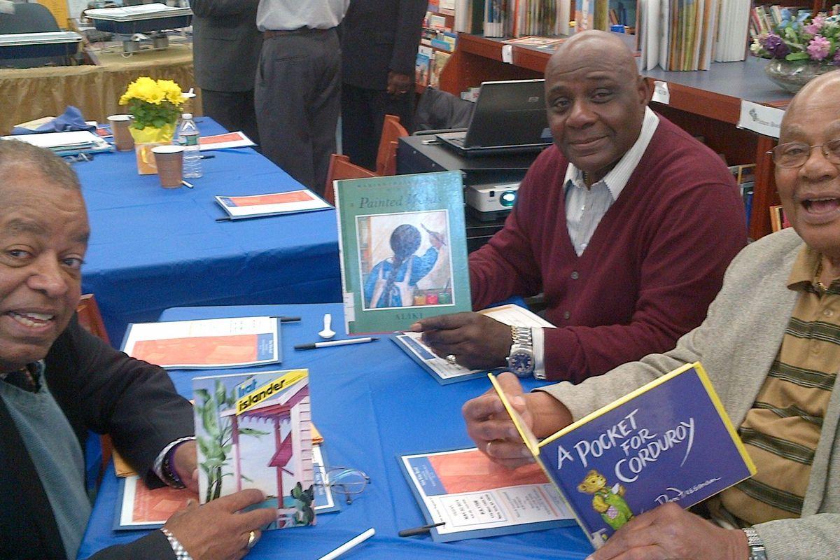 Harlem Council of Elders members volunteer to read to students.