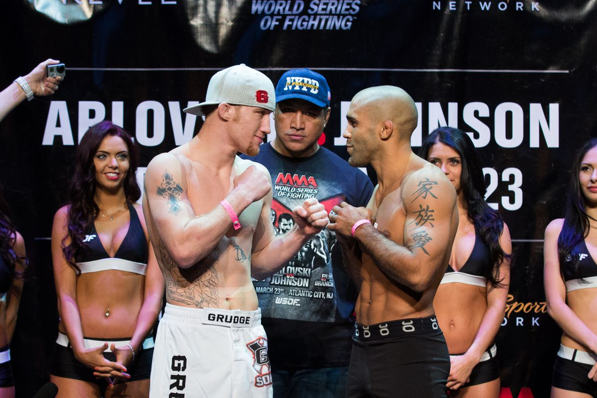 Gesias Cavalcante, right, aims for his second straight win at WSOF 2 on Saturday.