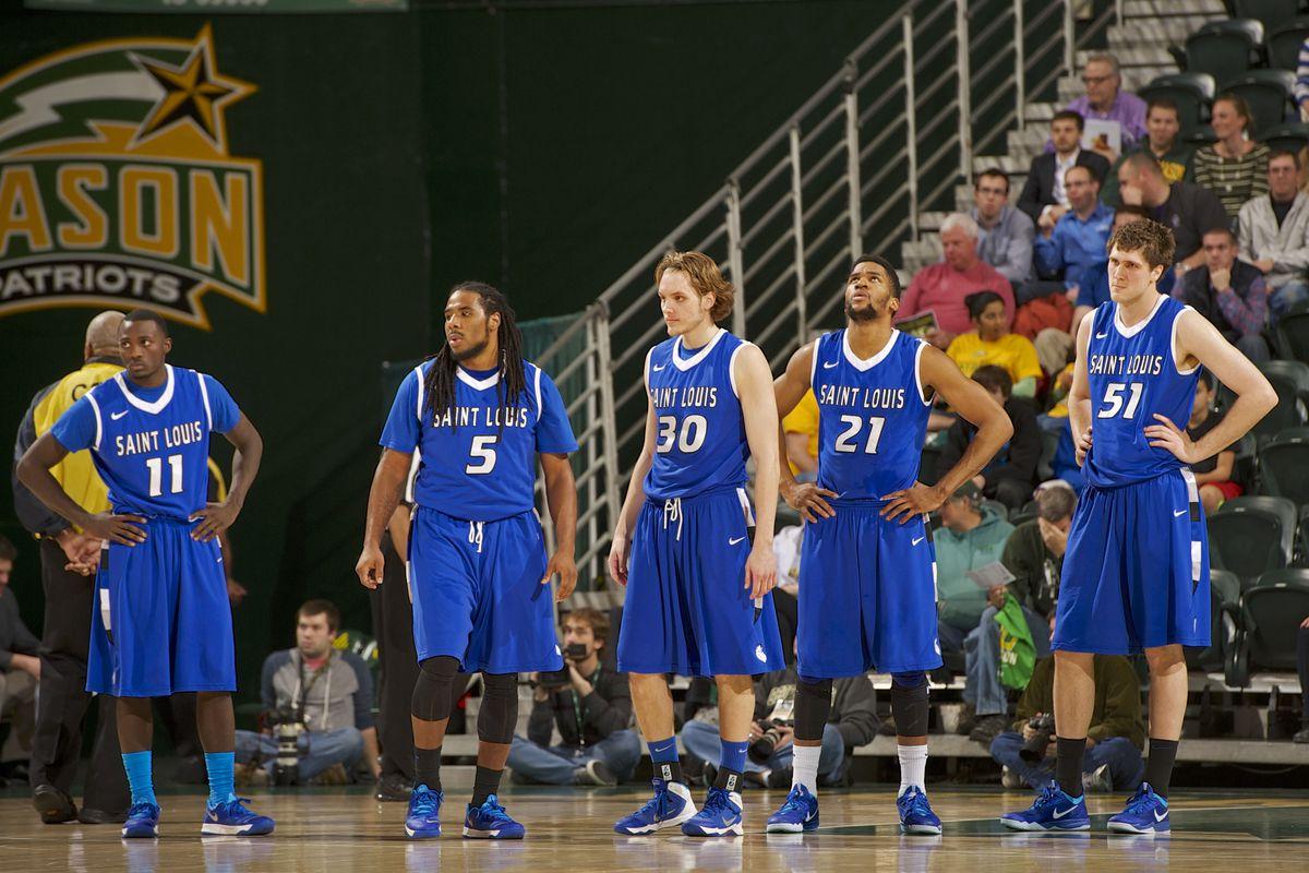 Saint Louis Starters (left to right): Mike McCall Jr., Jordair Jett, Jake Barnett, Dwayne Evans and Rob Loe