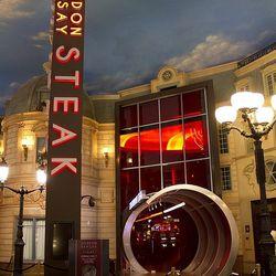 The Chunnel entrance to Gordon Ramsay Steak.