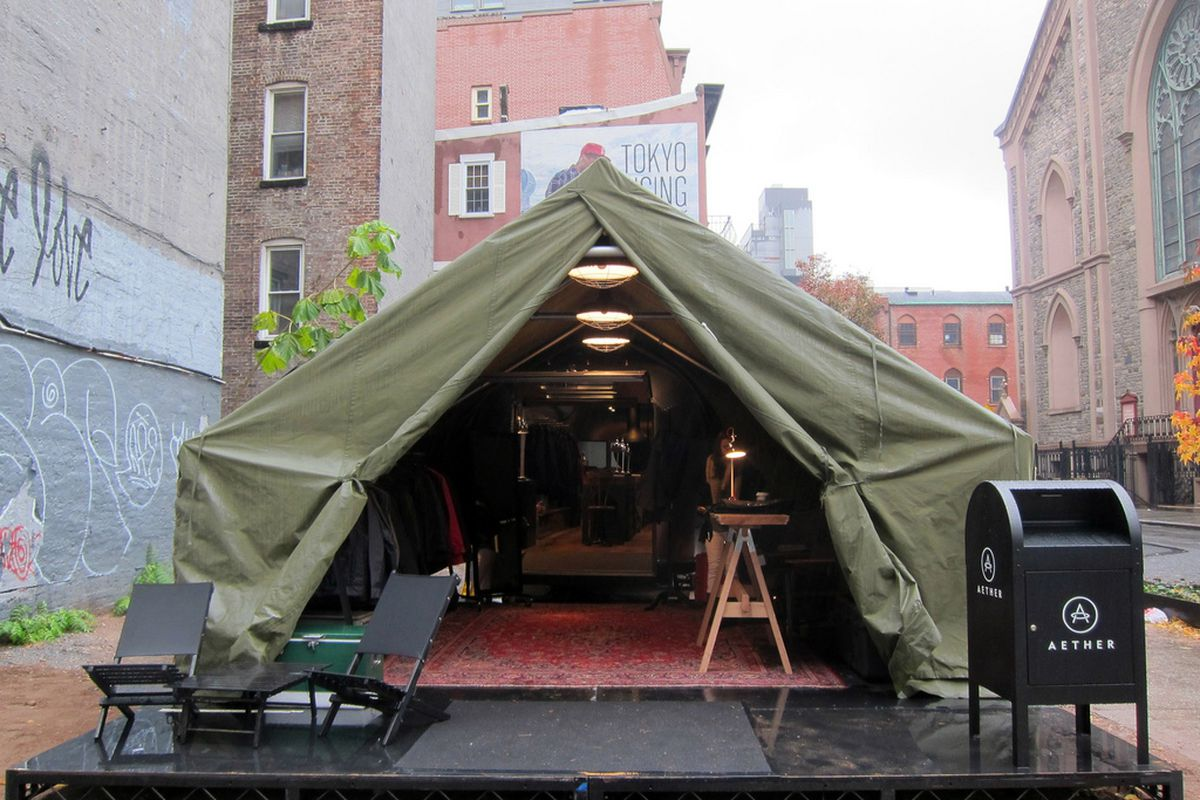"""The Aether pop-up. Image via <a href=""""http://www.flickr.com/photos/62159569@N08/6371874297/in/pool-rackedny/"""">Scoboco</a>/Racked Flickr Pool. Want to contribute? Join <a href=""""http://www.flickr.com/groups/rackedny/pool/with/6371874297/"""">here</a>."""