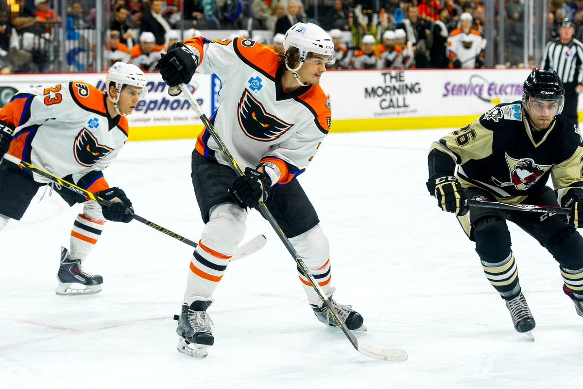 Oliver Lauridsen scored the Phantoms' lone goal in their 5-1 loss to Wilkes-Barre on Sunday in the season finale.