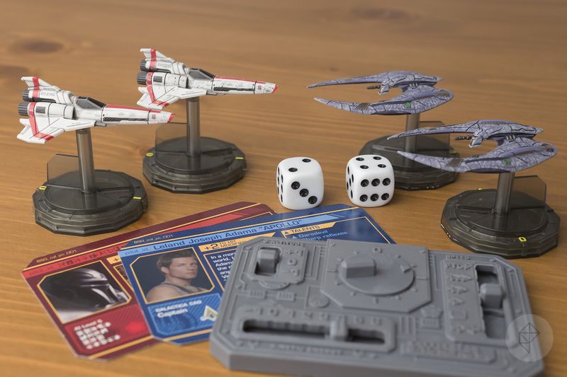 The complete set of miniatures from Battlestar Galactica: Starship Battles.