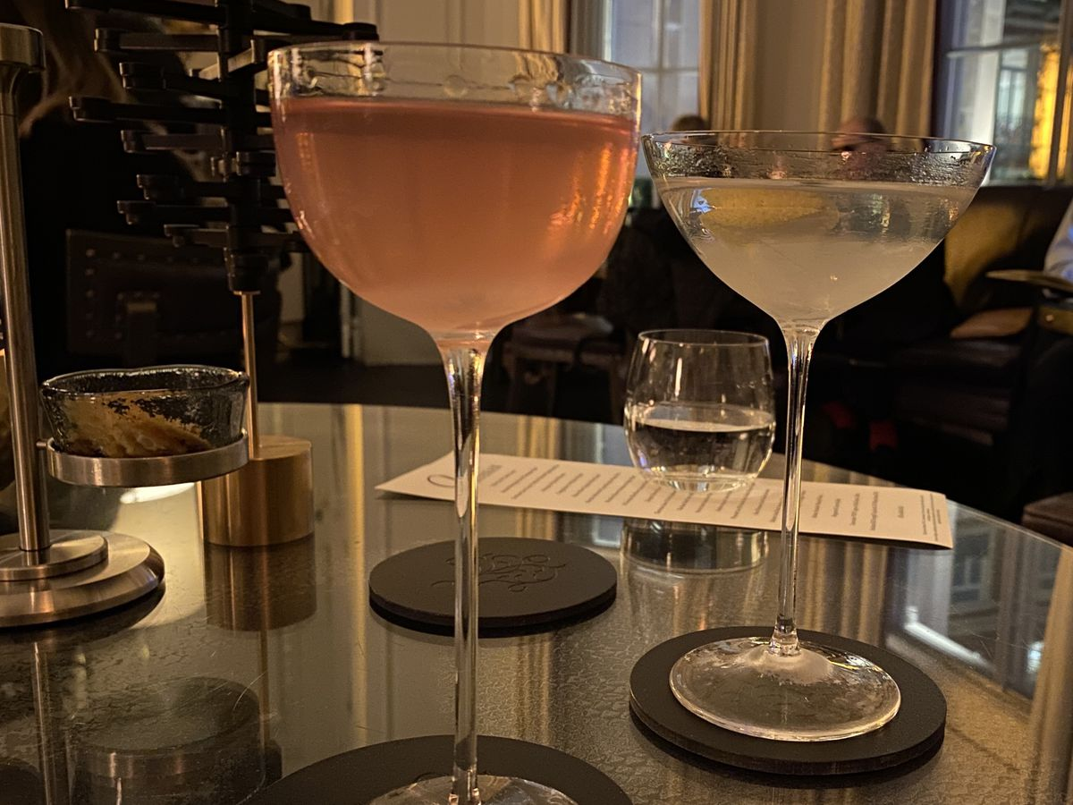 Two of London's best martinis at Artesian