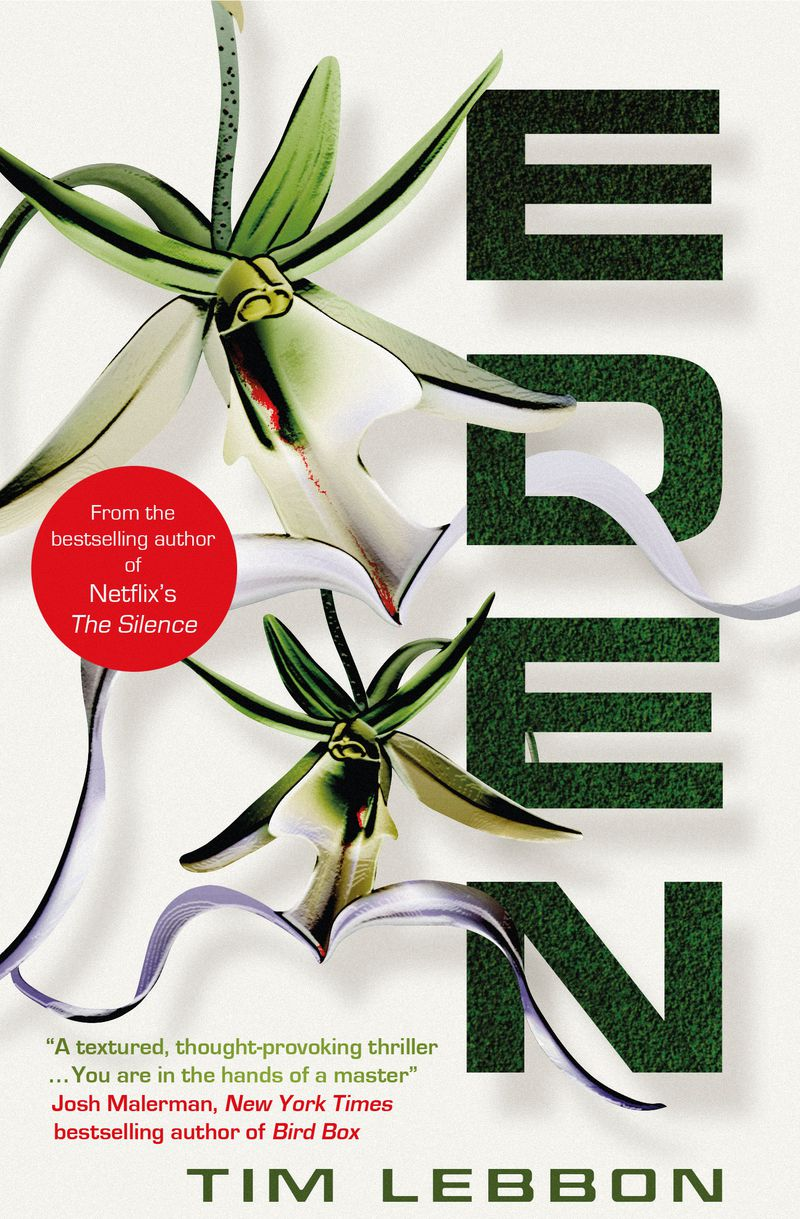 a flower on the cover of eden by tim lebbon