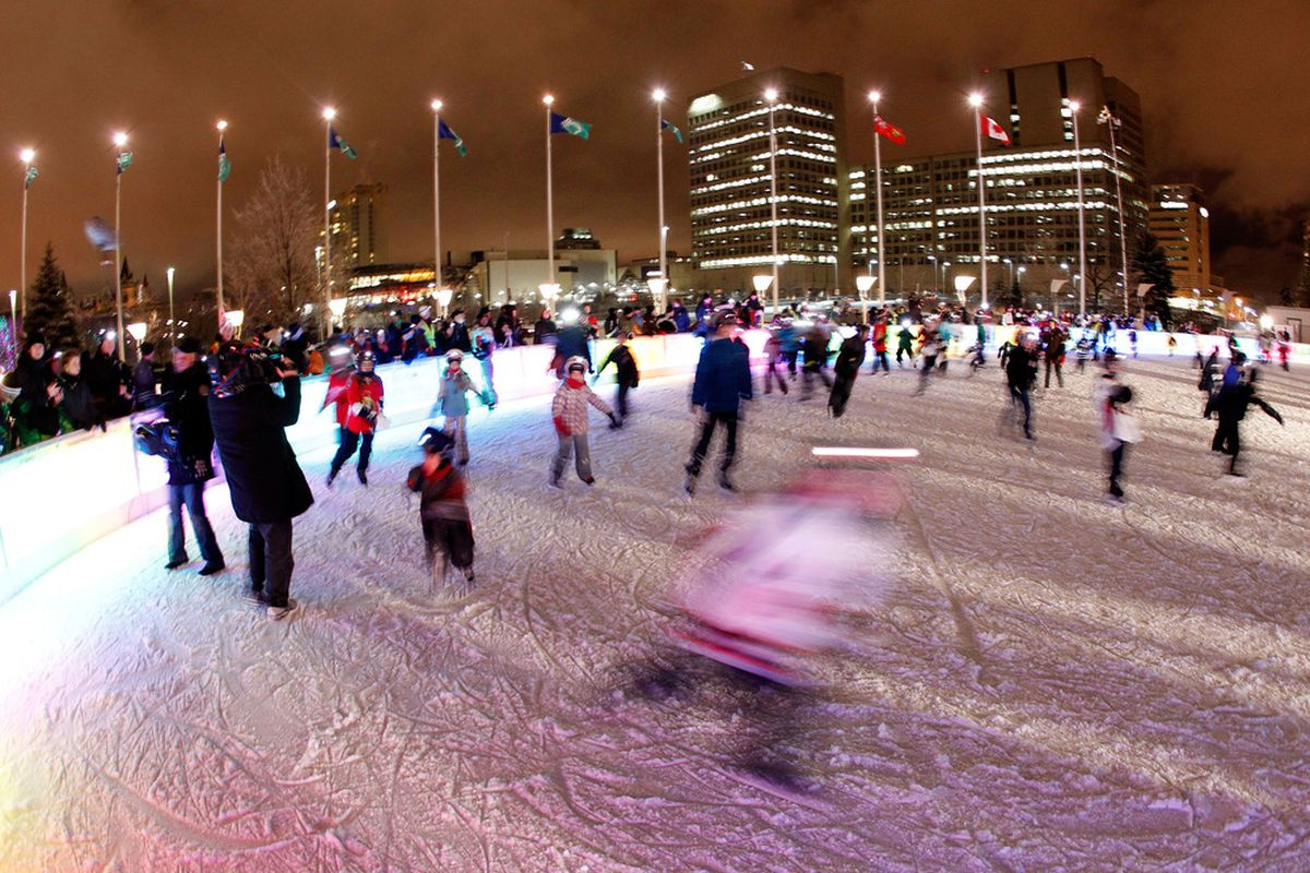 Ice rink.