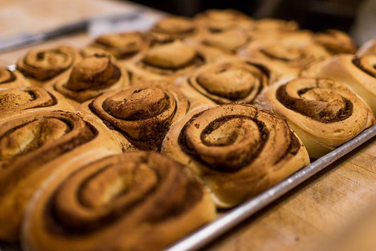 Cinnamon rolls at the Butcher Block Cafe