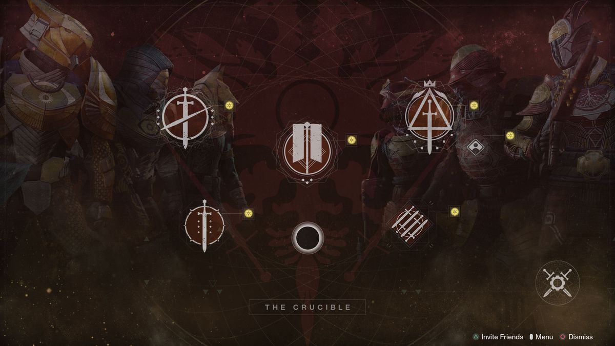 Destiny 2 Beyond Light Crucible menu