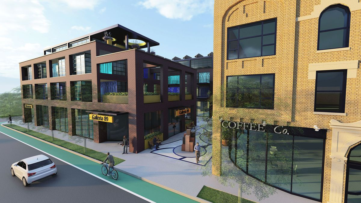 This South Chicago project calls for a new building and a renovated older building on the 8800 block of South Commercial Avenue.