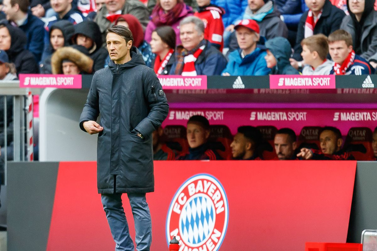 MUNICH, GERMANY - MAY 04: Head coach Niko Kovac of FC Bayern Muenchen looks on during the Bundesliga match between FC Bayern Muenchen and Hannover 96 at Allianz Arena on May 4, 2019 in Munich, Germany.