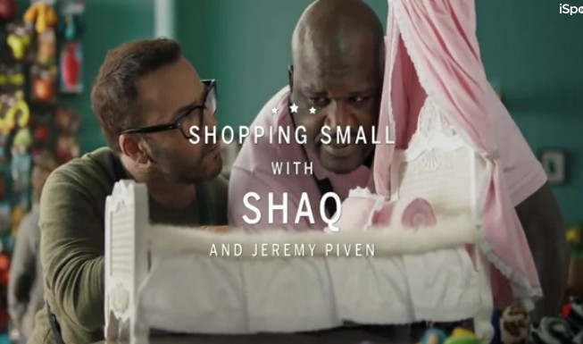 Still of Jeremy Piven and Shaquille O'Neal in an American Express commercial