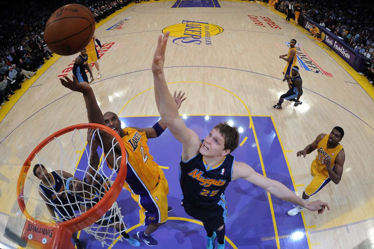 Timofey Mozgov and the Nuggets didn't show any quit, but the Lakers did what they needed to.