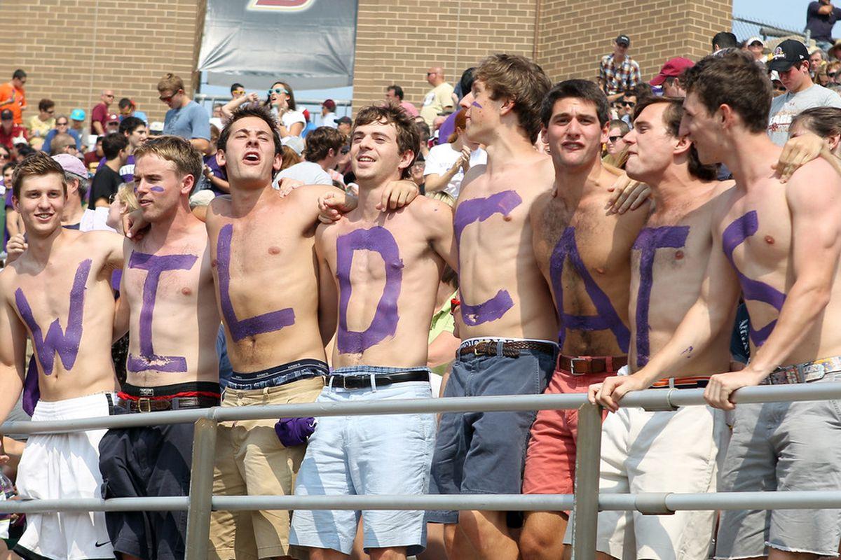 NU fans: The few, the proud