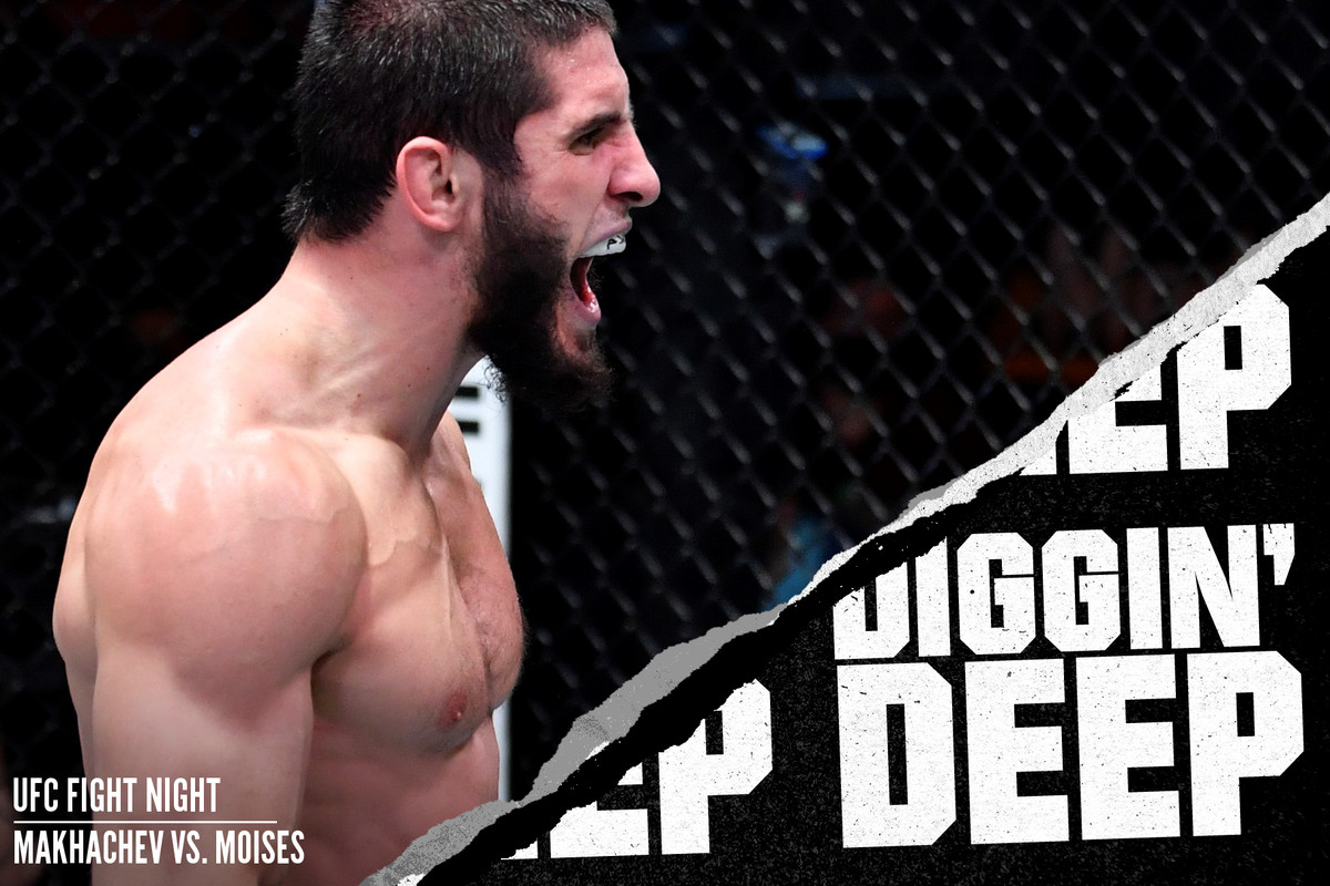 Islam Makhachev after his victory over Drew Dober at UFC 259