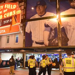 8:36 p.m. CPD on duty in front of the ballpark, during the top of the 5th inning -