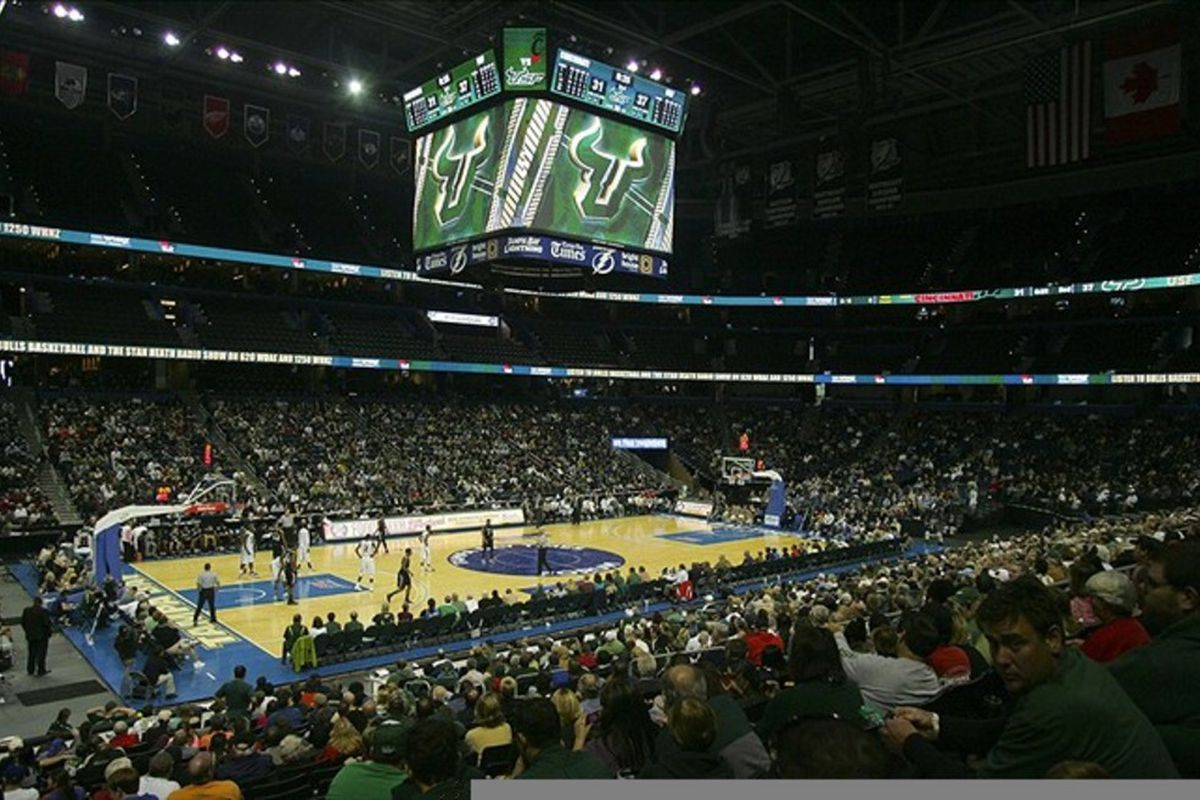 Feb 26, 2012; Tallahassee, FL, USA; A general view of Tampa Bay Times Forum in the second half of the game between the Cincinnati Bearcats and the South Florida Bulls. The Bulls won 46-45. Mandatory Credit: Phil Sears-US PRESSWIRE