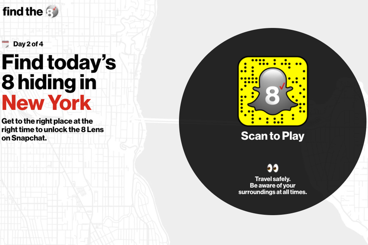 Verizon is giving away free iPhone 8s in an AR Snapchat scavenger