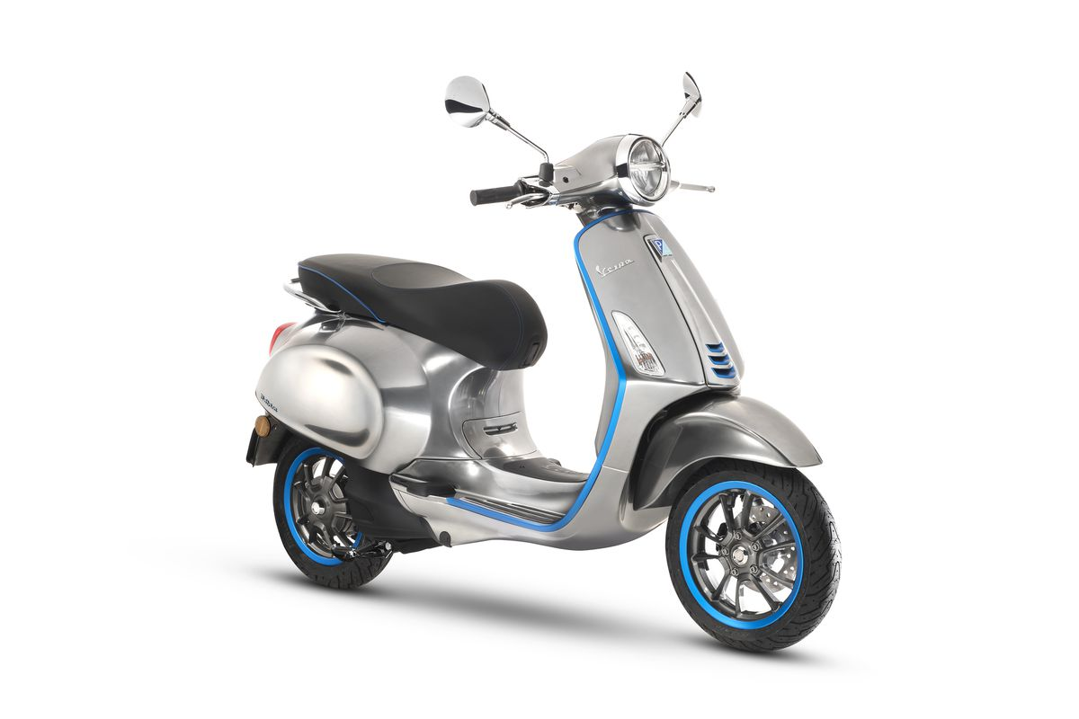 Piaggio Showcases Its First Electric Vespa Scooter