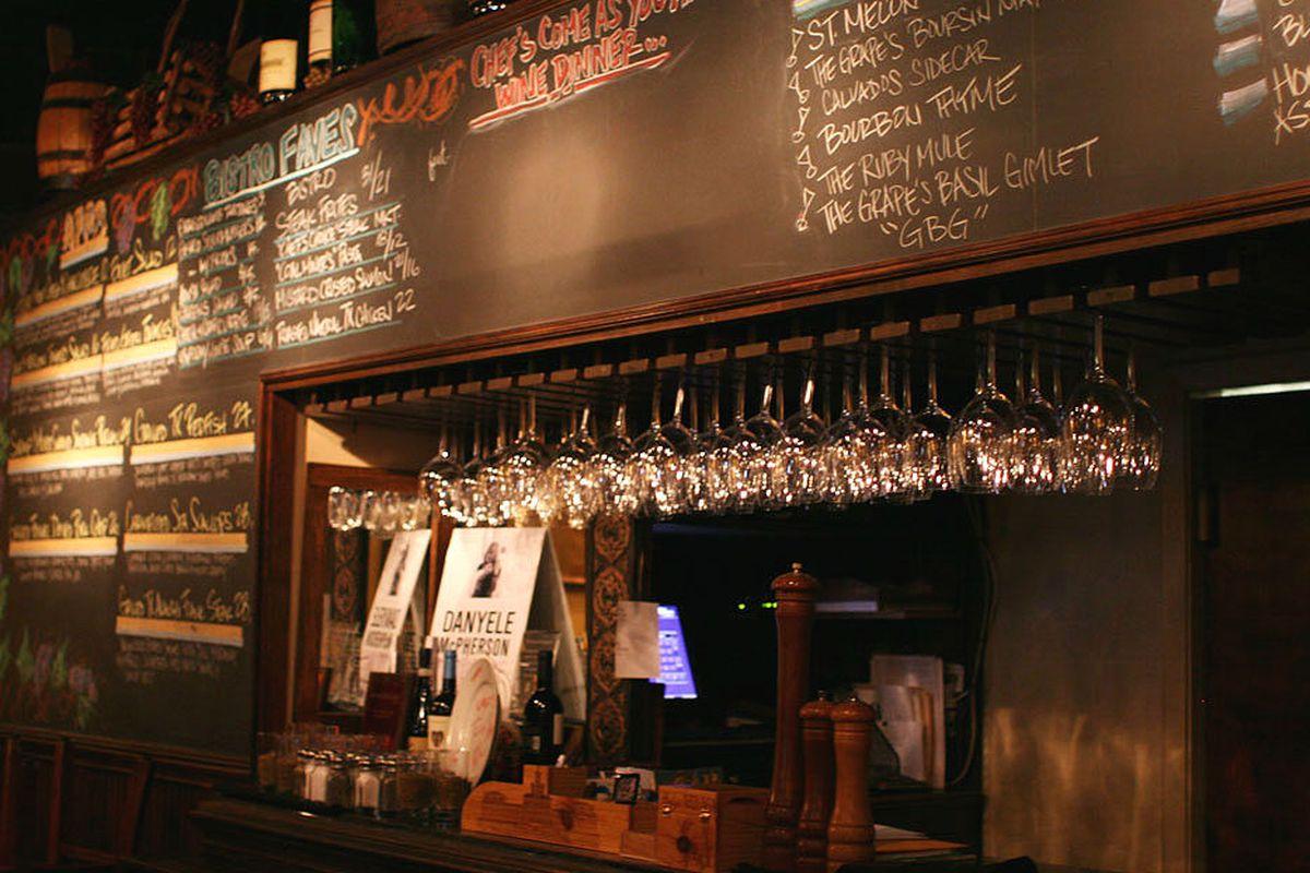 The Grape's bar.