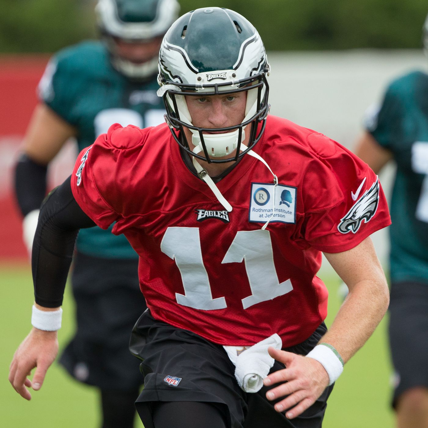 b33cbd46a86 Eagles Training Camp Practice Notes: Carson Wentz looks super sharp ...