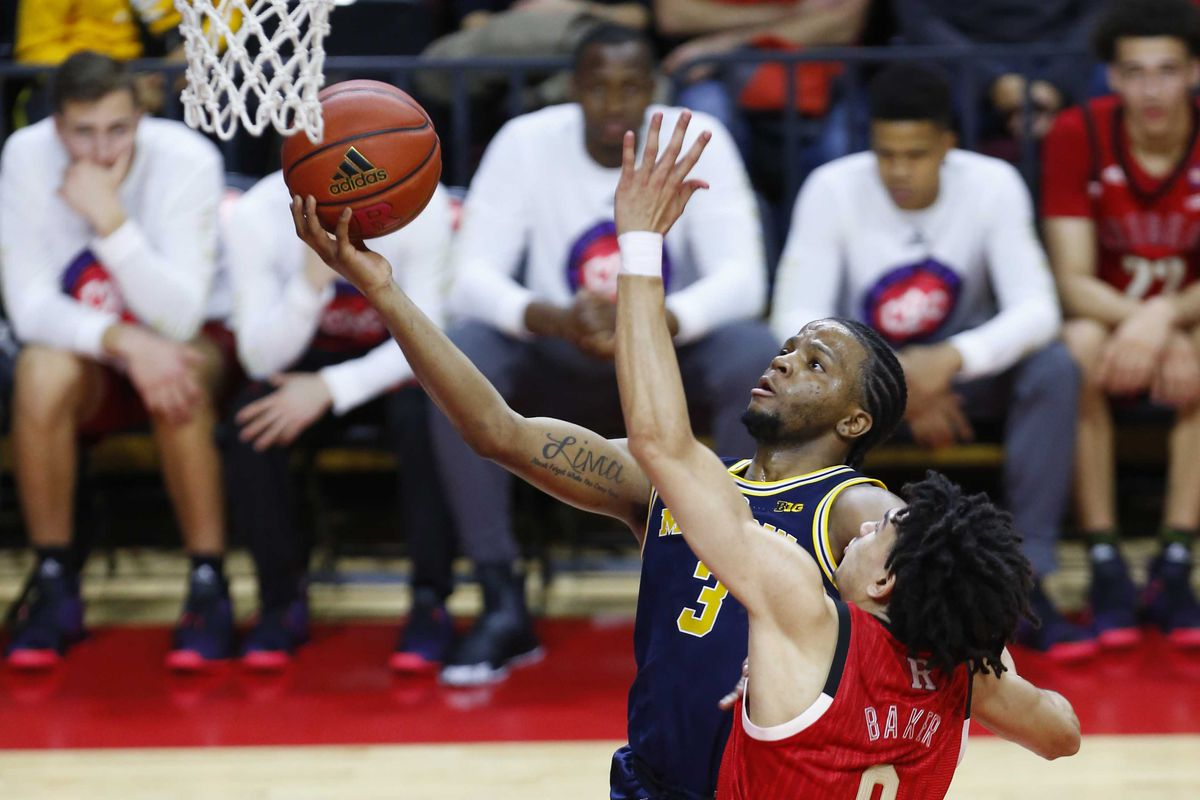 best loved 71fd9 425c0 NCAA Basketball  Michigan at Rutgers