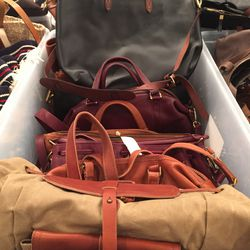 Large leather bags, $130