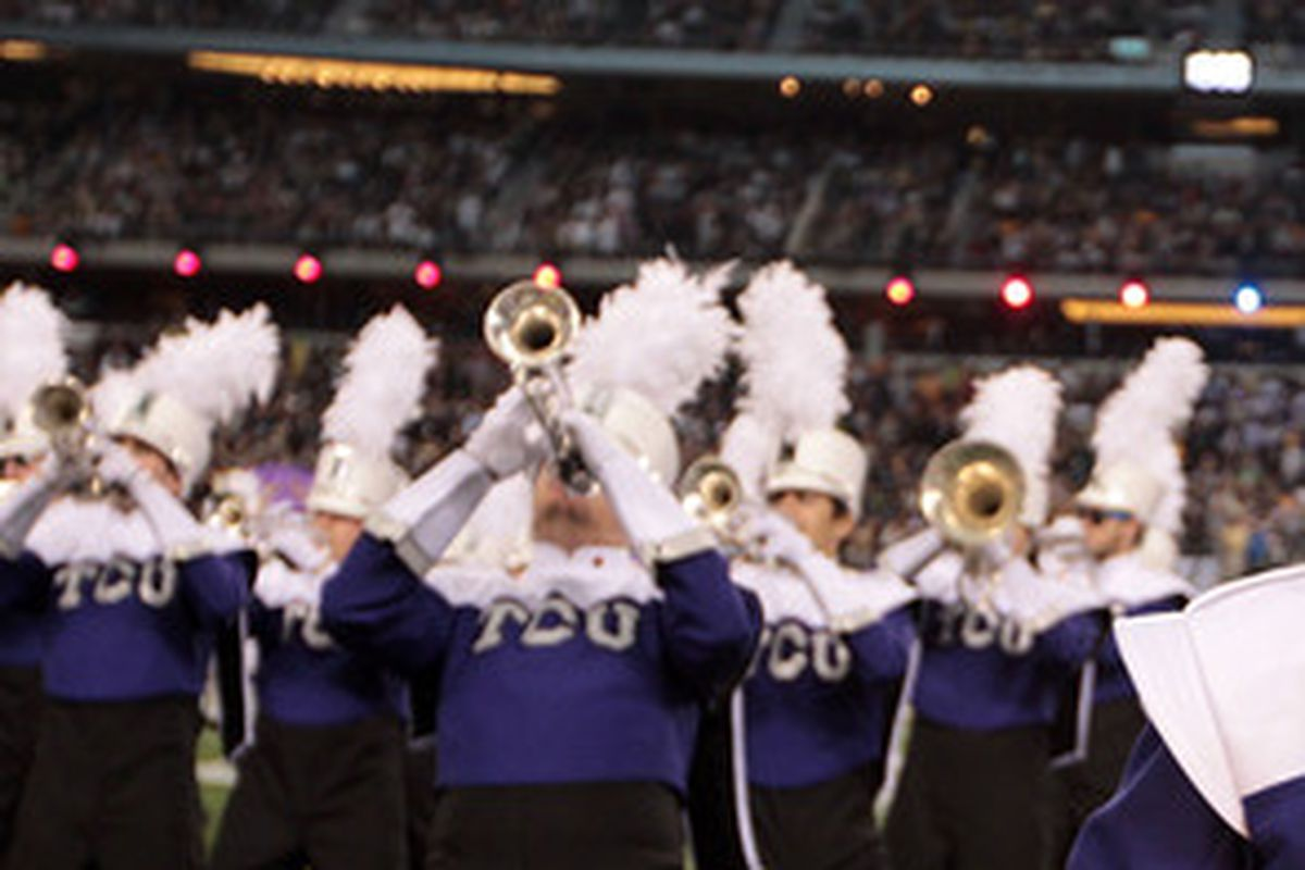 One former TCU head football coach also led the school band, orchestra, and choir.