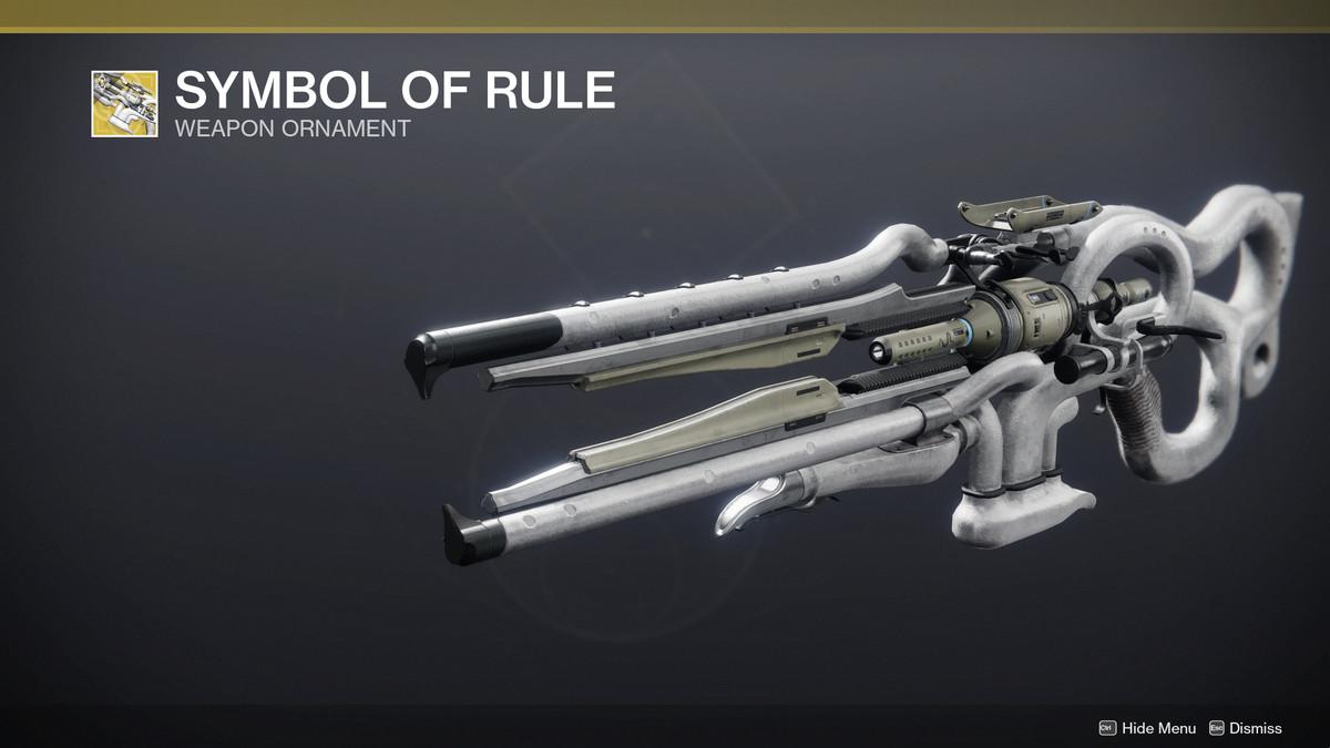 Ager's Scepter Trace Rifle ornament in Destiny 2