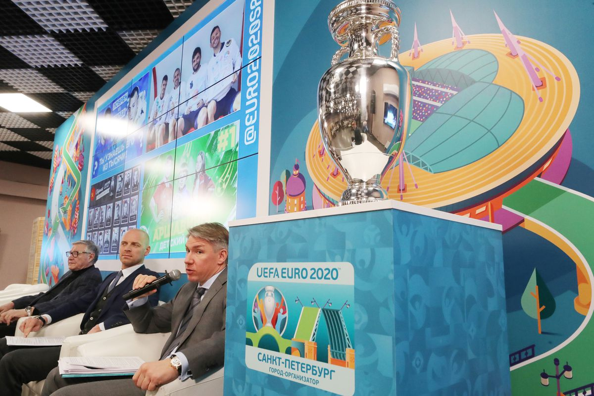 Press conference marking 100 days till UEFA Euro 2020 in St Petersburg