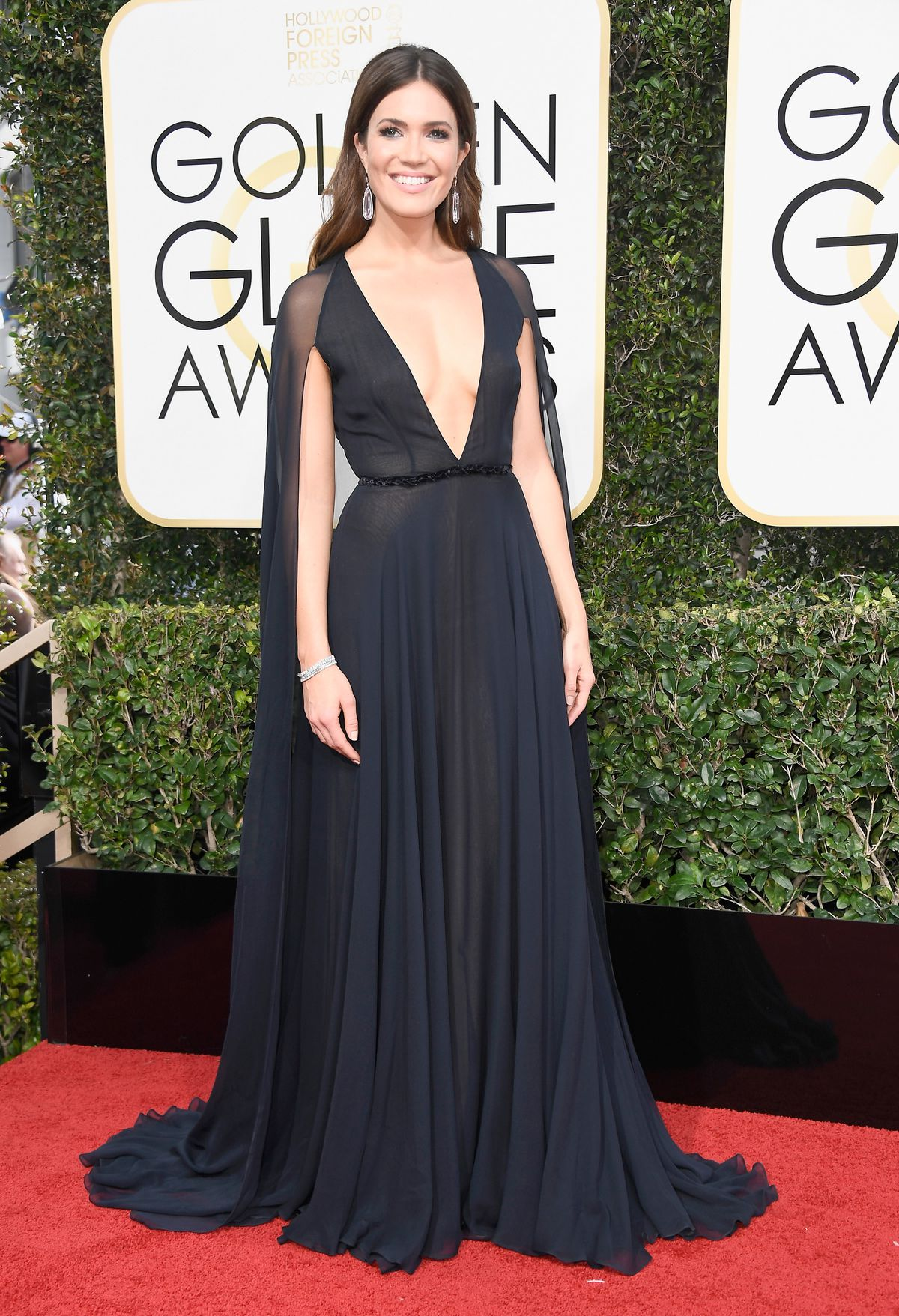 Actress Mandy Moore attends the 74th Annual Golden Globe Awards at The Beverly Hilton Hotel on January 8, 2017 in Beverly Hills, California.